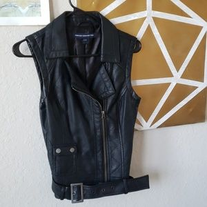 French Connection Vegan Leather Vest